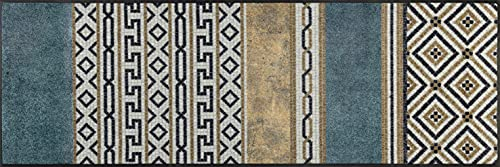 wash+dry Felpudo Porta sul Mondo 60 x 180 cm, Interior y Exterior, Lavable