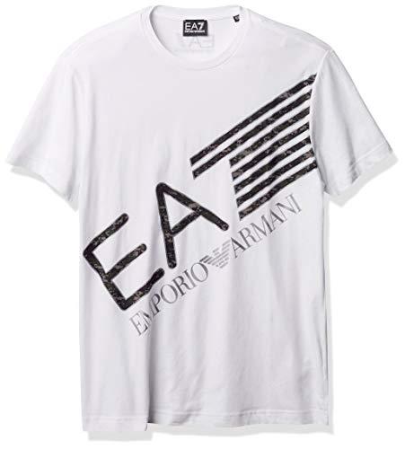 Photo of Emporio Armani EA7 Cotton Printed Logo White T-Shirt XL