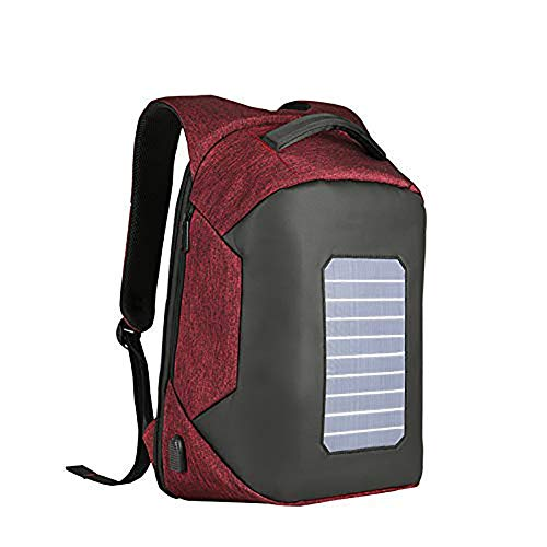 UponPak Laptop Rucksack,Travel Computer Bag for Women and Men,Anti-Theft Water Resistant College School Bookbag,Slim Business Backpack with USB Charging Port and Solar Charging Board