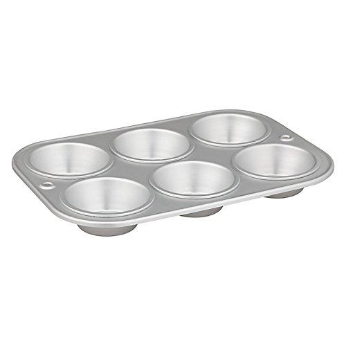 Delia Online–Teglia–Scatole anodizzato satinato–11scatole diverse, alluminio, Muffin Tin ( 6 cups)