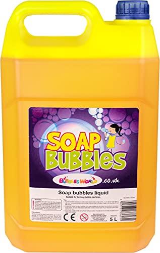 Bubbles World Liquido per Bolle di Sapone 5 LT - Mega Bolle