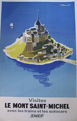 Poster Mont Saint Michel, Reproduktion, Format 50 x 70 cm, Papier, 300 g, verschiedene Formate und Verkäufe der digitalen Datei möglich.