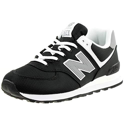 New Balance Herren 574v2 Sneaker, Schwarz (Black/Yellow Sci), 39.5 EU