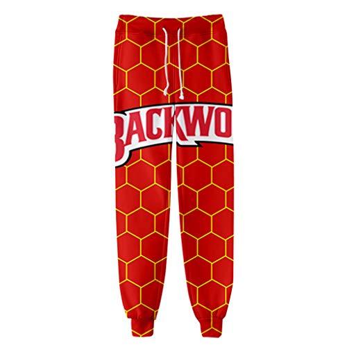 Backwoods Hoodies Pants Tie Dye Sports Sweatpants 3D Printed for Boys Cigar Casual Men Women (E,XL)