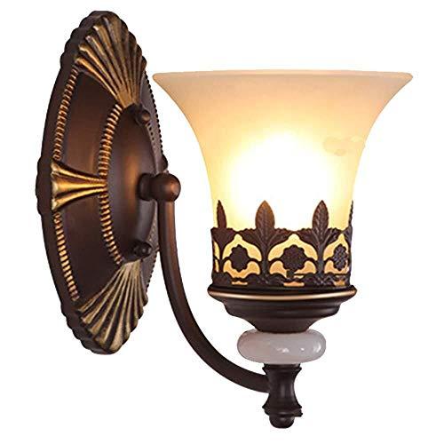 Luz de pared tyxl Antiguo vintage labrado lámpara de pared led linterna metal linterna creativa translúcida sombra interior iluminación lámpara de noche lámpara de cama sala de estar dormitorio terraz