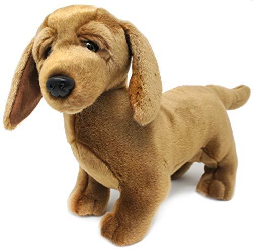 Derika The Dachshund - 12 Inch Stuffed Animal Plush Weenie Dog - by Tiger Tale Toys
