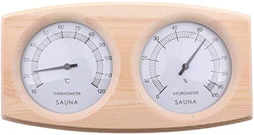 Wupettier Sauna Thermometer Hygrometer Sauna Thermo-Hygrometer Aus Holz Zimmerthermometer Hydrometer Feuchtigkeit