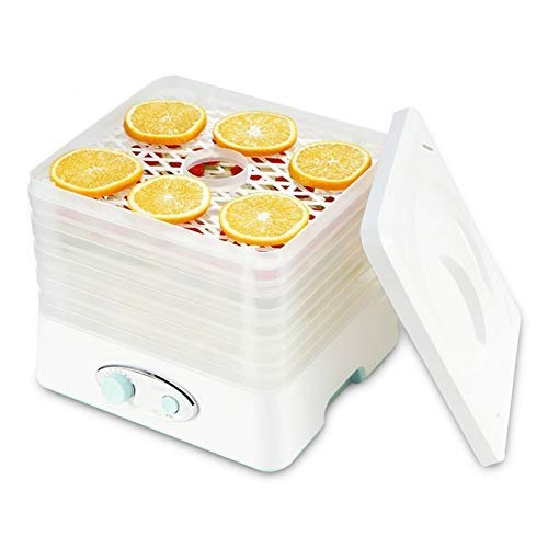 GWFVA Dörrgerät mit Temperaturregler Dörrgeräte für Lebensmittel und Trockenfutter mit Heißluftzirkulationssystem, Pet Snacks Food Dryer 5 Tabletts 11X10x10.8 Zoll