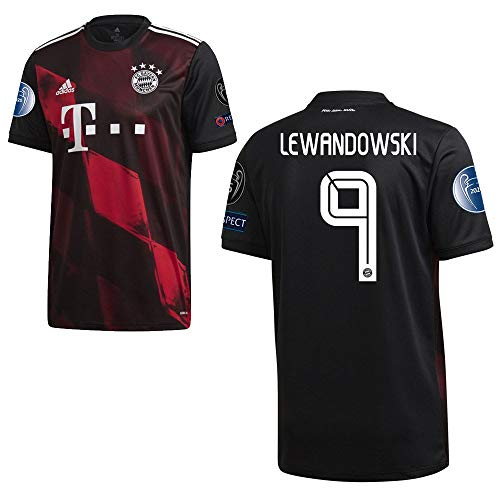 adidas FCB FC Bayern München Trikot 3RD Ausweichtrikot 2020 2021 CL Logos Kinder Lewandowski 9 Gr 152