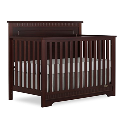 Dream On Me Morgan 5 in 1 Convertible Crib, Espresso