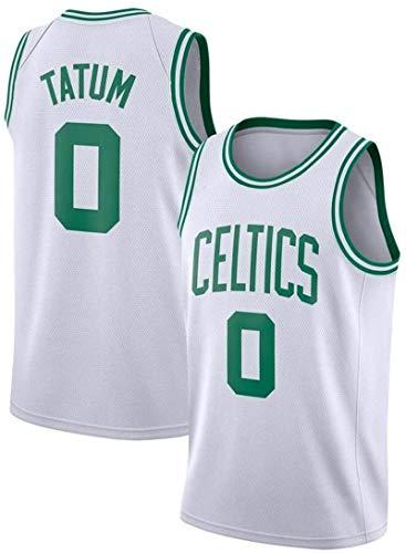 SHR-GCHAO Camiseta De Hombre NBA Boston Celtics # 0 Jayson Tatum Ropa De Entrenamiento De Baloncesto Deportes Y Ocio Chaleco Sin Mangas Transpirable De Secado Rápido,Blanco,XL(180~185CM)