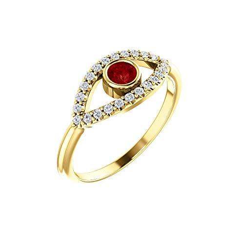 Hermoso anillo rubí auténtico zafiro blanco contra