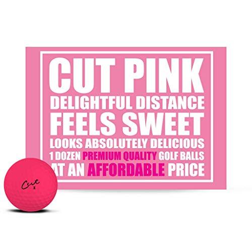 Cut Golf Balls, Pink Matte