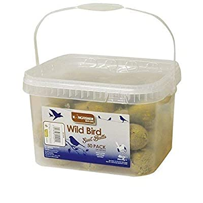 garden mile® 50x Fat Suet Balls For All Garden Bird Feeders High Energy Bird Feed (NO NET) Resealable Tub from Garden Mile®