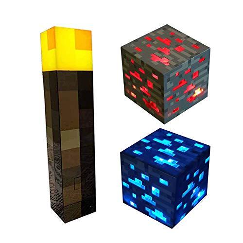 GAMINS Linterna de Pared de luz Nocturna de Mano con lámpara de Pared de iluminación, Juguete de Regalo para niños de iluminación, Juego de 3