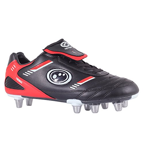 Optimum  Rbtbgs8 Botas de Rugby para Hombre, Black/Red, 43 EU (9 UK)