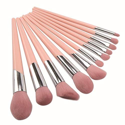 Outil de maquillage Beauté 11 Pinceaux De Maquillage Roses, Pinceau Doux pour Fard À Paupières Foundation Blush Ensemble Complet d'outils