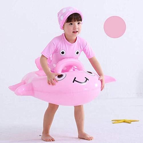Asiento de natación del niño del anillo del anillo de goma de seguridad del niño Barco flotador Salón inflable inflable de la natación en la diversión de los 60 * 65cm, Amarillo FDWFN ( Color : Pink )