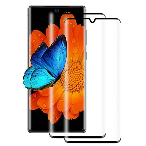 [2 Pezzi] Pellicola Protettiva in Vetro Temperato per Samsung Galaxy Note 10, Protezione Completa 3D, Antigraffio, Durezza 9H, Ultra Trasparente, Compatibile con Samsung Galaxy Note 10 (Nero)