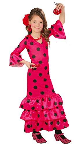 Guirca - Disfraz Andaluza, talla 7-9 años, color rosa (82717)