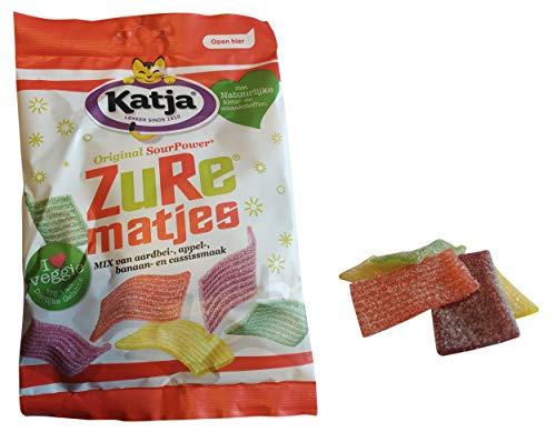 Katjes Gummies | Sour Strips Candy | Katja Candy | Mix of 4 Fruity Flavors | 9.7 Ounce