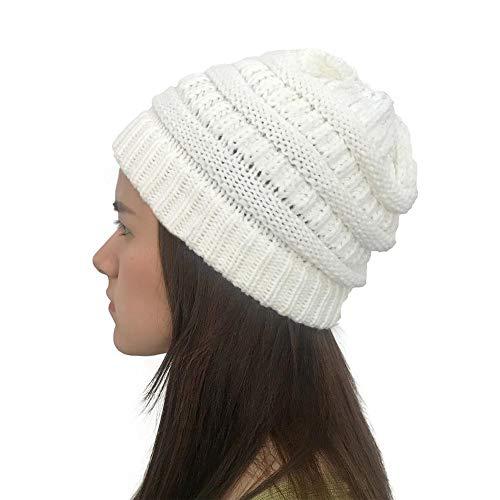 Urbenlife gebreide muts in de winter, warme beanie cap met chunky faux voor bobble cap snowboard Hats Sale 2019 ideaal