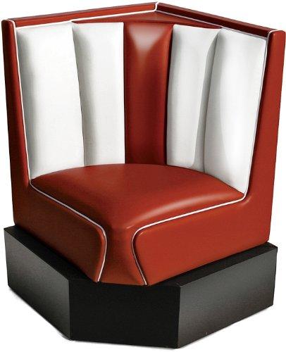 Bel Air Bank Dinerbank Eckbank Sitzbank Einrichtung Gastronomie Dinermöbel Lounge (Ruby/White)