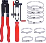 Poweka CV Joint Boot Clamp Pliers with CV Boot Clamps Kit, Auto Repair Tool for Car Tire Repair Clamp Removal - Car Banding/band Tool Kit, Automotive Hose Axle Plier