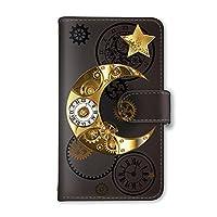[スマとく] Xperia 1 Ⅲ SO-51B / SOG03 手帳型 ケース カード ミラー スマホケース 携帯ケース 携帯カバー スマホカバー SONY エクスペリア ワンマークスリー au docomo softbank g089_e 月 時計 星 クロック スマホ手帳型