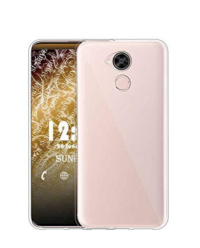 Sunrive Funda para Huawei GX8/G8, Silicona Slim Fit Gel Transparente Carcasa Case Bumper de Impactos y Anti-Arañazos Espalda Cover(TPU No Hay un patrón)