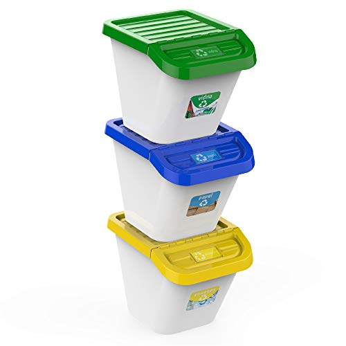 USE FAMILY-Gama Recycle. Cubos de Basura de Reciclaje para C