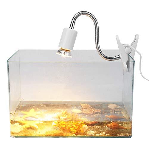 Pssopp 1 Unidad Nueva 25 W / 50 W 220-240 V luz de calefacción para Tomar el Sol lámpara de Calor Accesorio para lámpara de Calor de Acuario para Reptiles Lagarto Tortugas(50W)
