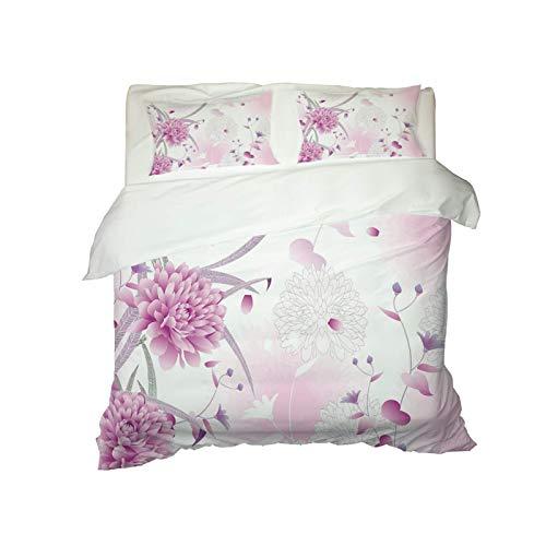 Bettbezug Frische Blumen Und Blätter Efec...