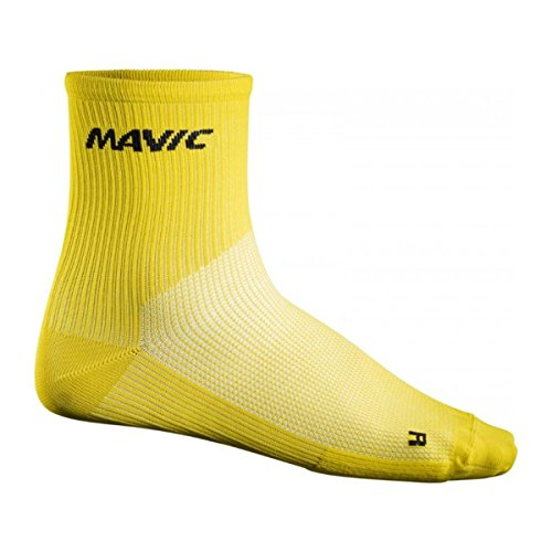 MAVIC Cosmic Mid Fahrrad Socken gelb 2018: Größe: S (35-38)