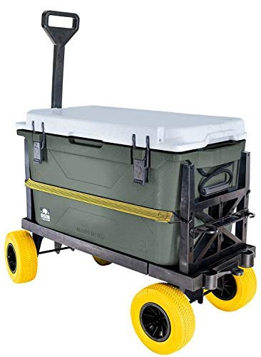 Mighty Max Cart Ice Chest Dolly Cooler Hauler - Flat Platform Truck - Expandable Size Pull Wagon - 300 lb Capacity