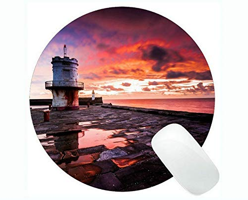 Yanteng Gaming Mouse Pads,Lighthouse Sea Cliffs Water Away Road Mouse pad