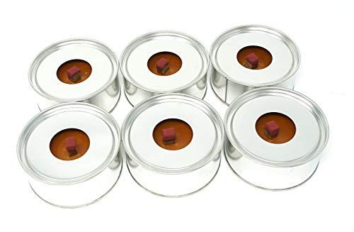 Winddicht weerbestendig outdoor fakkel kaars Pack van 6 kaarsen met 8 uur brandtijd elke kaars gemakkelijk te licht