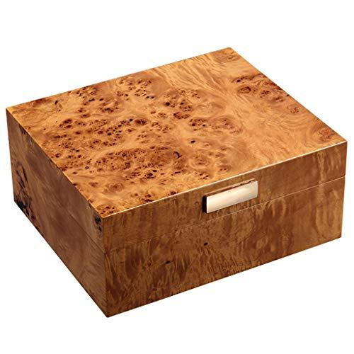 Caja de cigarros, Caja de cigarros hidratante humidificador de cigarros Cresta de Gallo Caja Forrada de Madera de Cedro Puede sostener 50 (Size : 27x22.8x11.5cm)