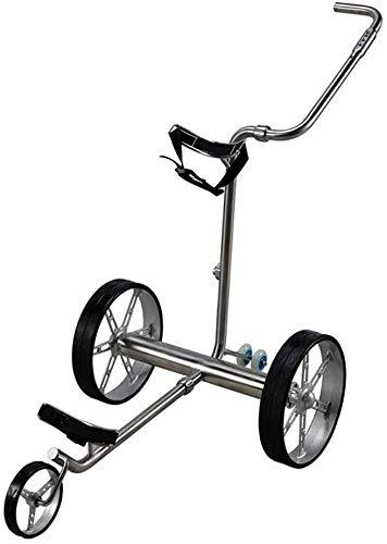 BZLLW Golf Rollwagen, elektrische Golf-Push Cart, faltbar 3-Rad-Golf-Trolley-Rad-Push-Pull-Golf Cart mit Fernbedienung, Golf-Trolley Elektro