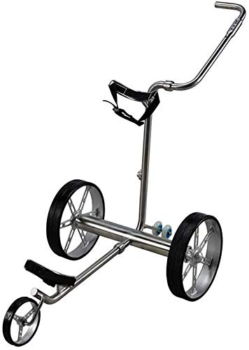 BZLLW Golf Rollwagen, elektrische Golf-Push Cart, faltbar 3-Rad-Golf-Trolley-Rad-Push-Pull-Golf Cart mit Fernbedienung, Golf-Trolley Elektro