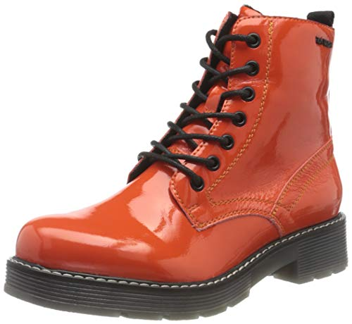 TOM TAILOR Damen 9093501 Halblange Stiefel, Orange, 42 EU
