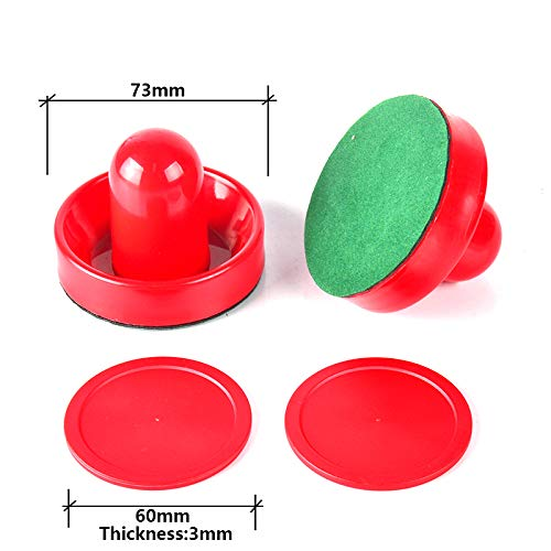 Why Choose TORPSPORTS Air Hockey Accessory Set with 2 Felt-Bottom Strikers and Pucks for Game Tables...