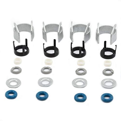 4 Set Fuel Injectors Seals Repair Kit Bosch 06H998907A Replacement For Golf GTI Tiguan A3 A4 A5 A6 A8 Q32.0T