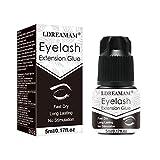 Eyelash Extension Glue,Adhesivo Pestañas,Pegamento Pestañas Postizas,Fuerte,2-3 s de Secado Rápido,Retención de 40 a 50 Días,Aplicación Rápida, Larga Duración,Negro,5ml