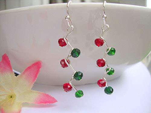 Christmas ZIGZAG Dangle Earrings
