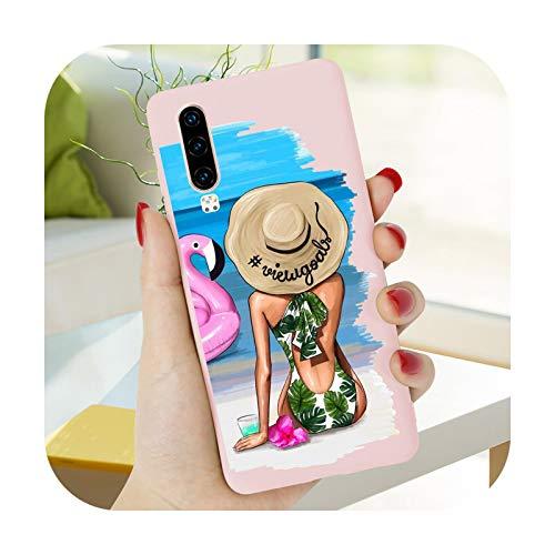 Funda blanda para Huawei P30 Lite P40 E PRO P20 P10 P Smart PRO 2019 2020 2021 2018 Plus Z Phone Color Candy Cover TPU-YN-P Smart 2018