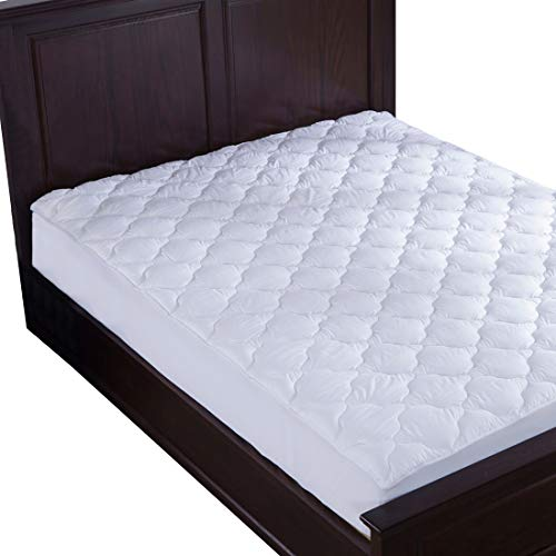 puredown Abajo Alternativa colchón pad/topper-quilted-100% algodón Top de trébol, Clovers patrón