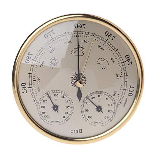 XIANZI Barómetro de pared, termómetro, higrómetro, estación meteorológica, matrices colgantes para la fabricación de mapas, puerta de casa