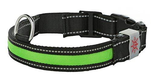 Moco Best Light Up Rechargeable LED Nylon Dog Collar