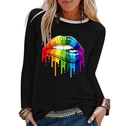 DressLksnf Women's T-Shirt Round...